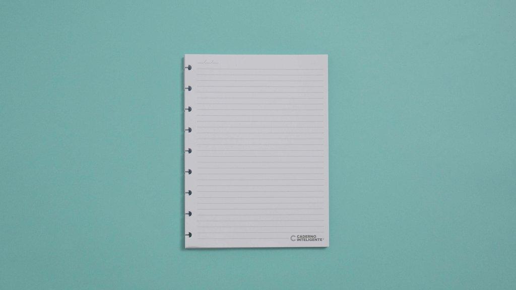 Refil Pautado Caderno Inteligente