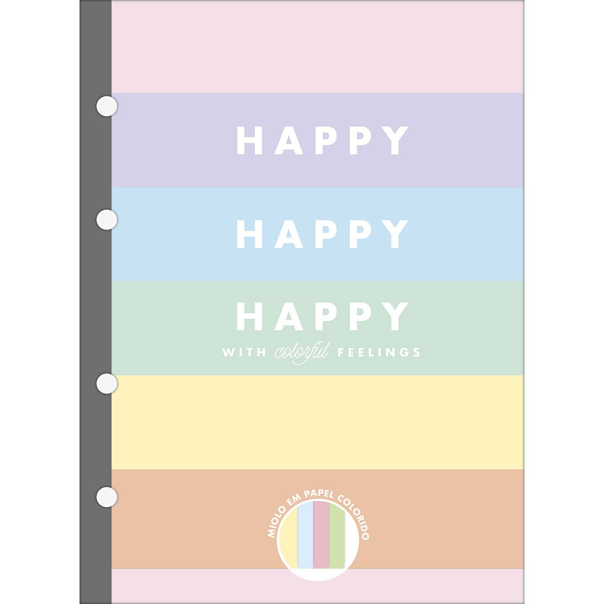 Refil Tiliflex para Caderno Argolado Colegial Happy Colors 80 Fls - Tilibra