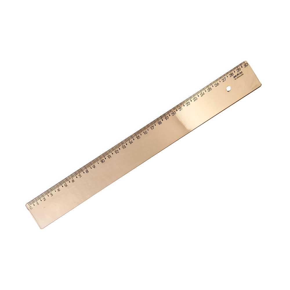 Régua Escolar 30cm New Line Metalizada - Waleu