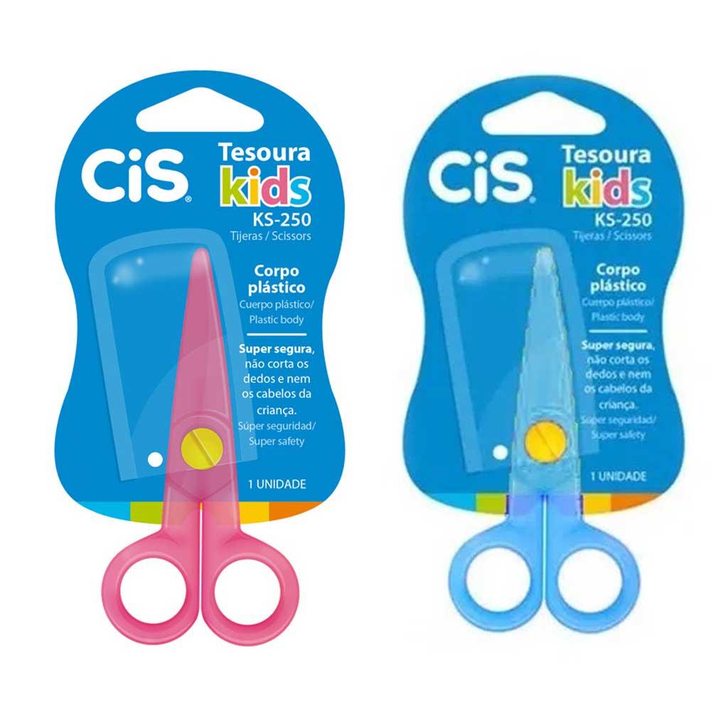 Tesoura Plástica Escolar Kids KS-250 - CiS