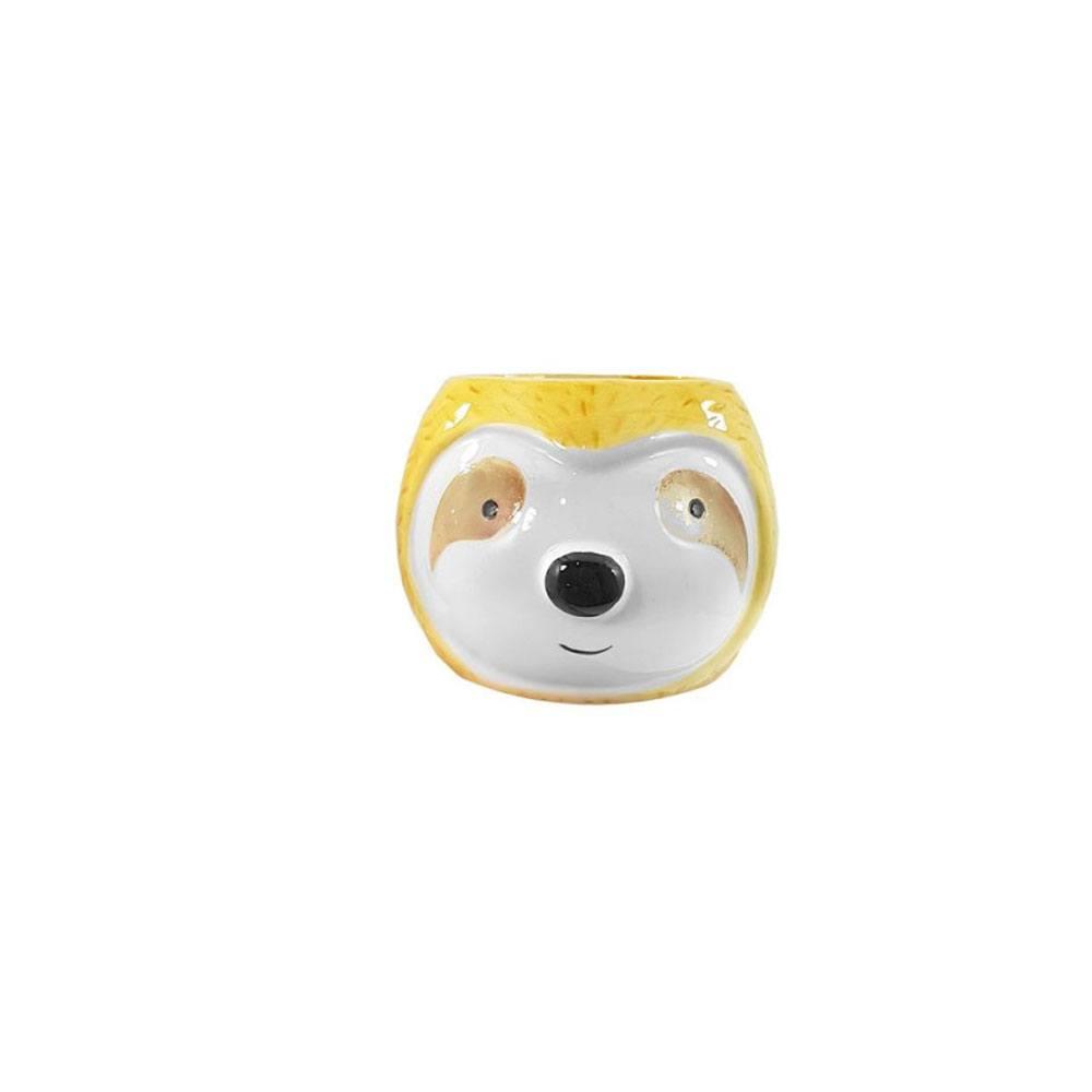 Cachepot Decorativo de Porcelana Preguiça