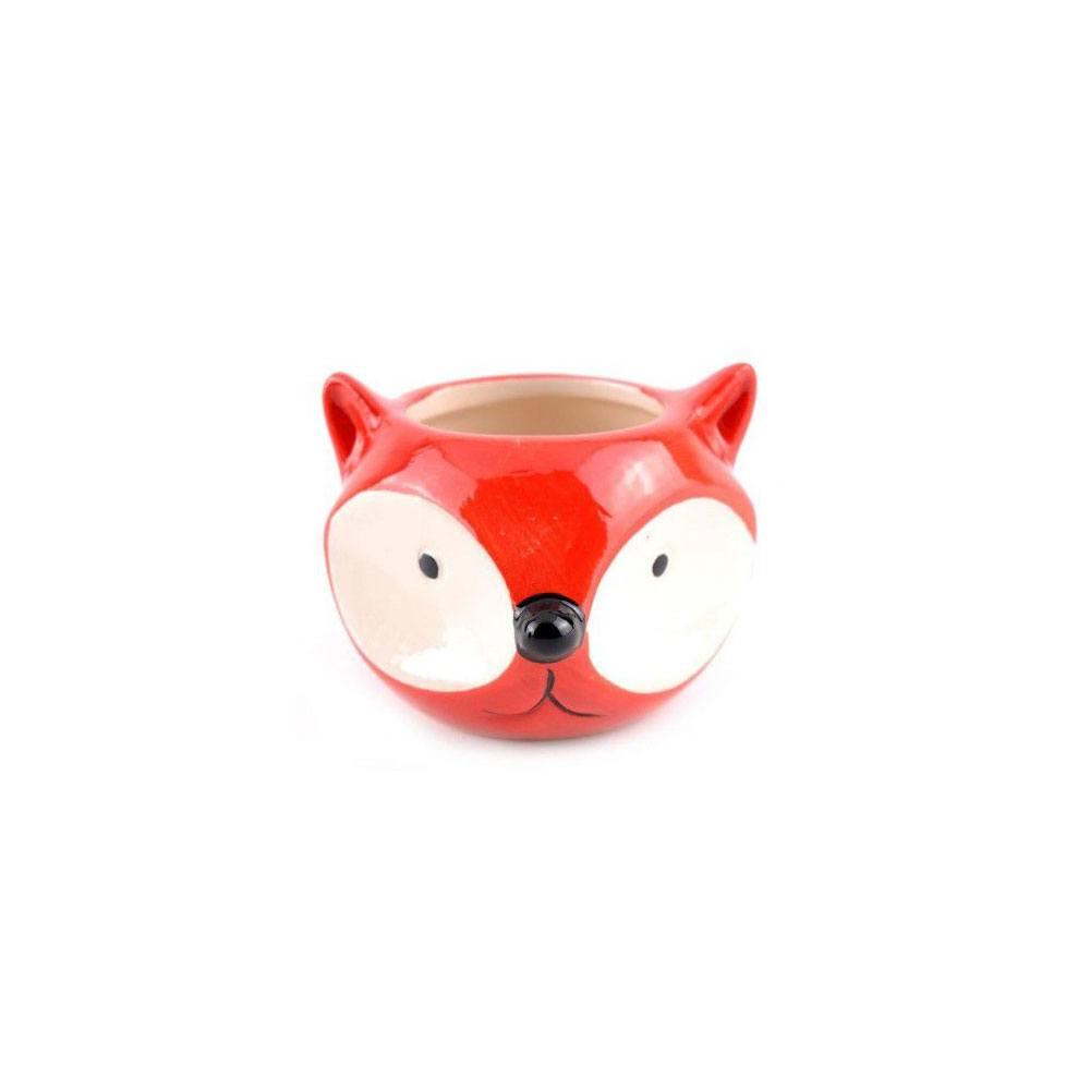 Cachepot Decorativo de Porcelana Raposa