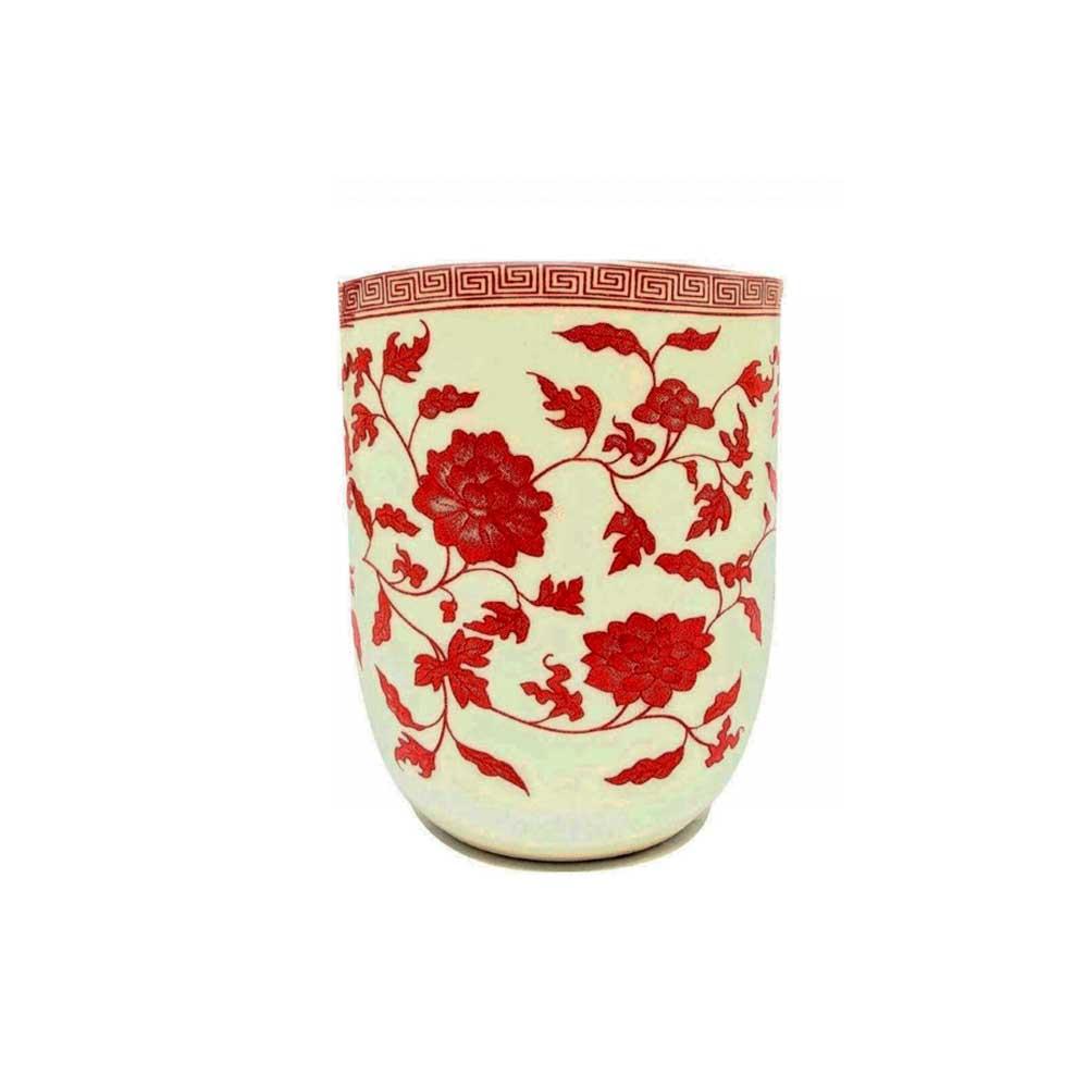Vaso Decorativo/Cachepot Estampado Japonês 7.5cm