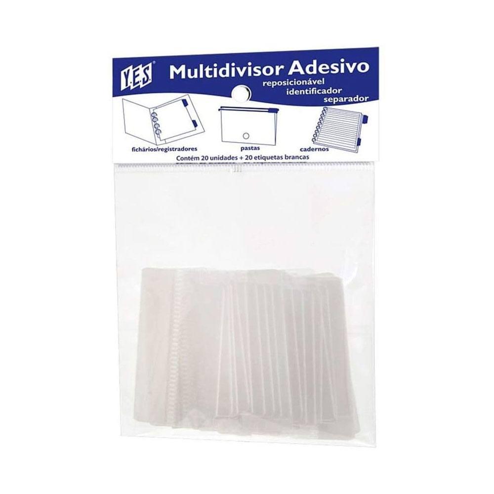 Multi Divisor / Índices Plásticos Auto Adesivo 20 Pcs - YES