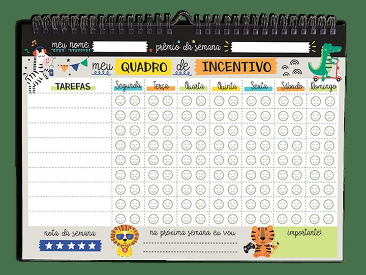 Wall Planner - Quadro de Incentivos Semanal Kids 52Fls - Cartões Gigantes