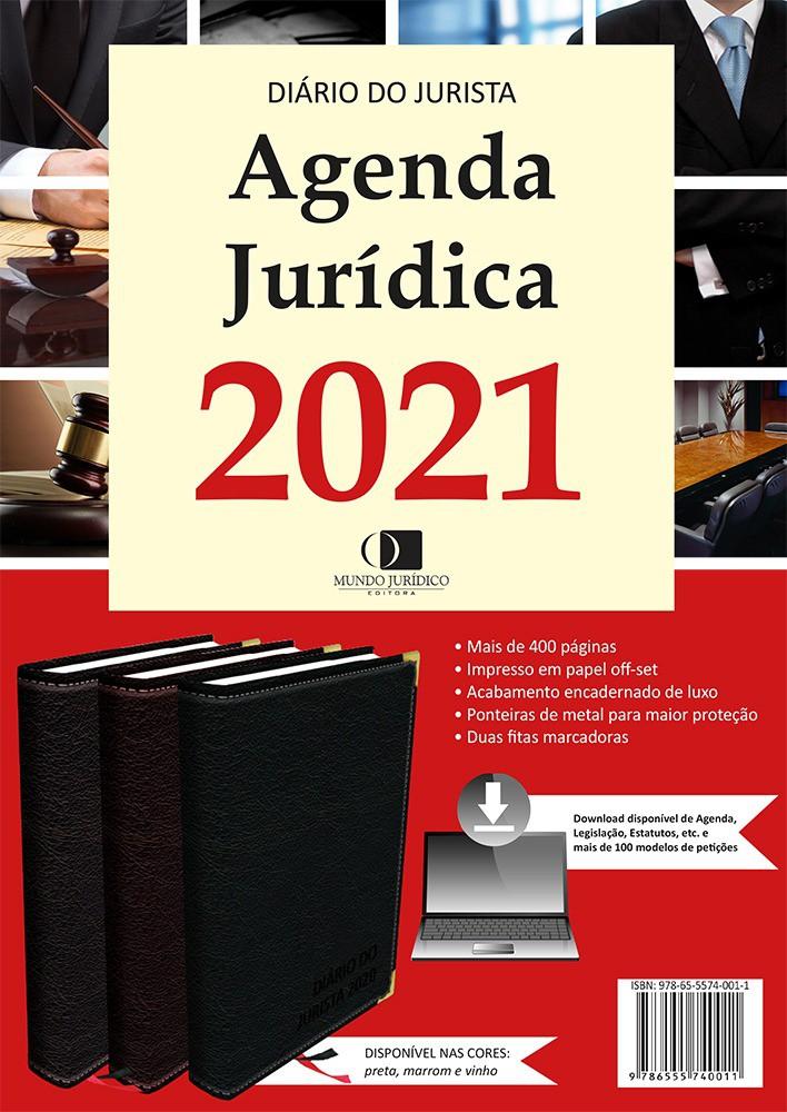 Agenda jurídica 2021 - Cor vinho
