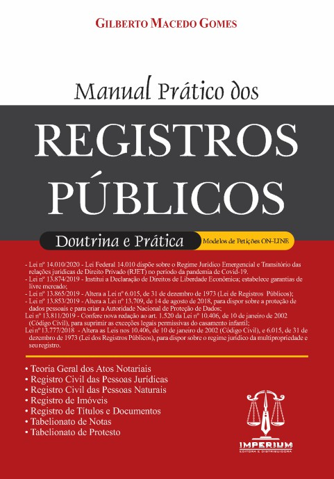 MANUAL PRÁTICO DOS REGISTROS PUBLICOS