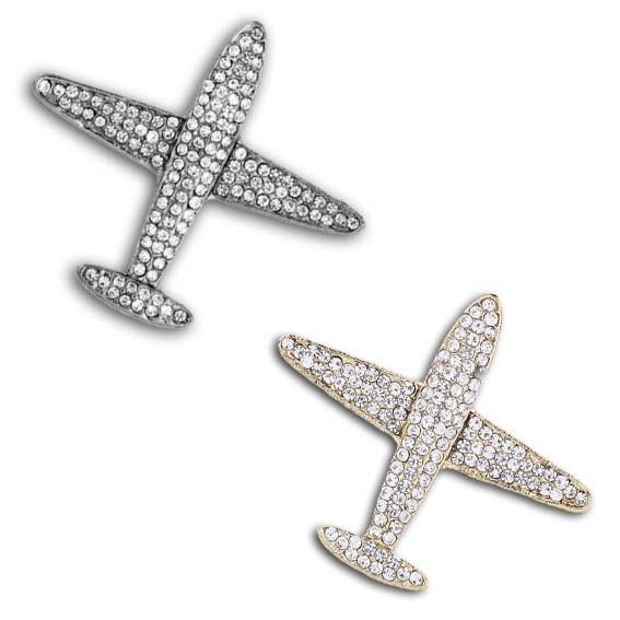 Broche Avião Cristais