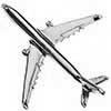 Pin Avião Comercial A330 Prateado