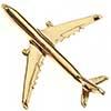 Pin Avião Comercial A330 Dourado