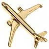 Pin Avião Comercial A320 Dourado