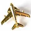 Pin Avião Comercial A380 Dourado
