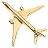 Pin Avião Comercial 777 Prateado