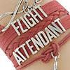 Flight Attendant vermelha