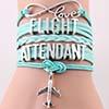 Flight Attendantt Verde Água
