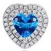 BP0018 Brinco Coração Azul Claro