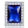 BP0028 Brinco retângulo azul escuro