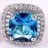 BP0011 Brinco Shine Quadrado azul claro