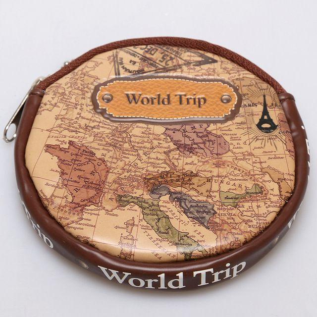 Porta Níquel Moedas World Trip