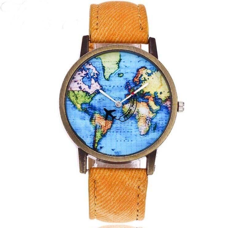 Relógio Mapa Américas e Africa