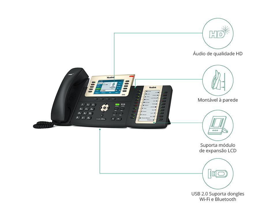 Telefone IP SIP-T29G C/ Fonte