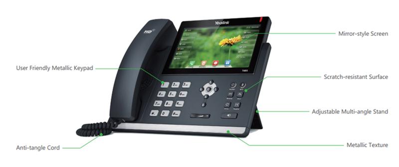 Telefone IP SIP-T46S C/ Fonte