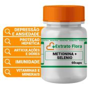 DL Metionina 500mg + Selênio Quelato 100mcg 60 Cápsulas