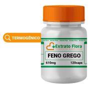 Feno Grego 610mg 120 Cápsulas - Extrato Flora