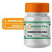 Ginkgo Biloba 80mg 120 Cápsulas Extrato Seco