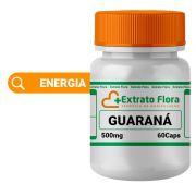Guaraná 500mg 60 Cápsulas