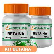Kit Betaína 300mg 90 Cápsulas (2 frascos)