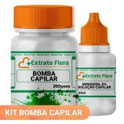 Kit Bomba Capilar 30 Doses e Minoxidil 5% solução Capilar Power 60ml