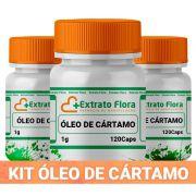 Kit Óleo de Cártamo 1G (3 frascos) 120 Cápsulas cada
