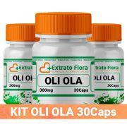 Kit Oli Ola 300mg 30 Cáps Peeling (3 frascos com selo de autenticidade)