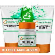 Kit Pele Jovem (Oli Ola, Hidroquinona, Glicosferas de Vit. C )