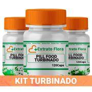 Kit Pill Food Turbinado 120 Cápsulas (3 unidades)