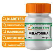 Melatonina 5mg 90 Cápsulas Para Dormir Bem