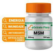 MSM 500mg 90 Cápsulas (Metilsulfonilmetano)