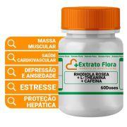 Rhodiola Rosea + L- theanina + Cafeína 60 Doses