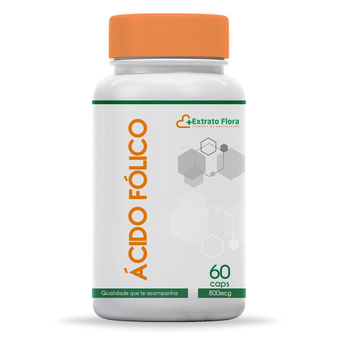 Ácido Fólico 800mcg 60 Cápsulas (Vitamína B9)