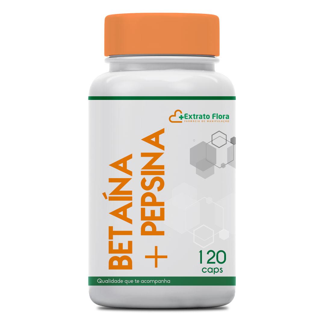 Betaína 300mg + Pepsina 40mg 120 Cápsulas