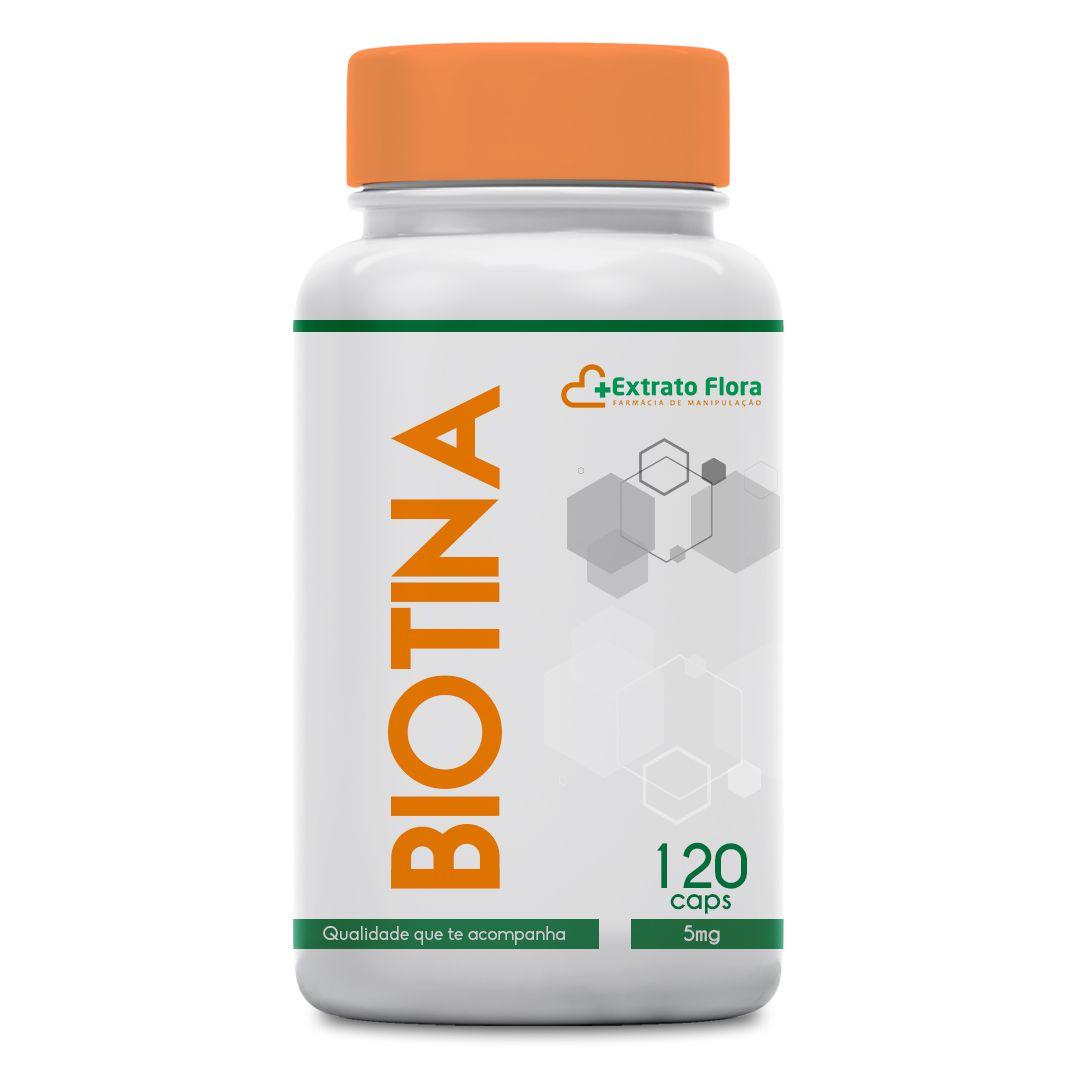 Biotina 5mg 120 Cápsulas (Vitamina B7)