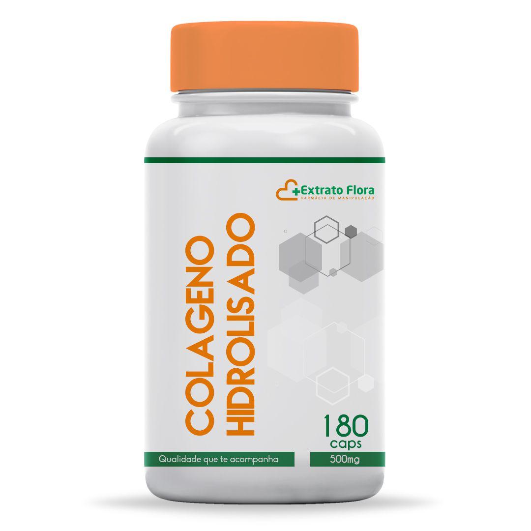 Colágeno Hidrolisado 500mg 180 Cápsulas