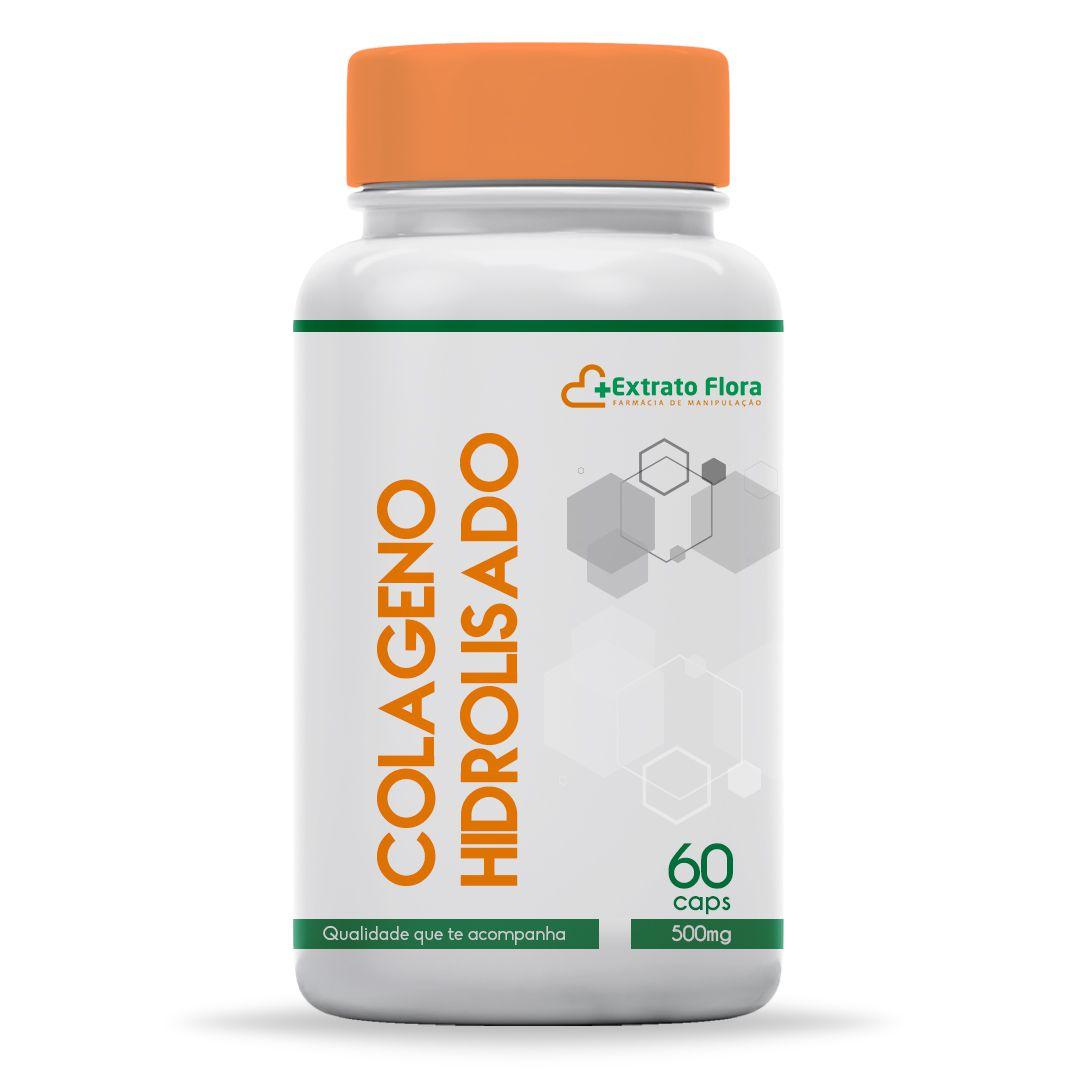 Colágeno Hidrolisado 500mg 60 Cápsulas