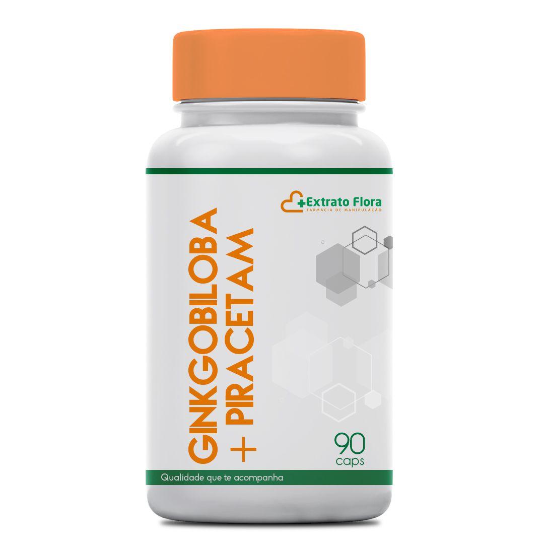 Ginkgo Biloba 20mg + Piracetam 400mg 90 Cápsulas