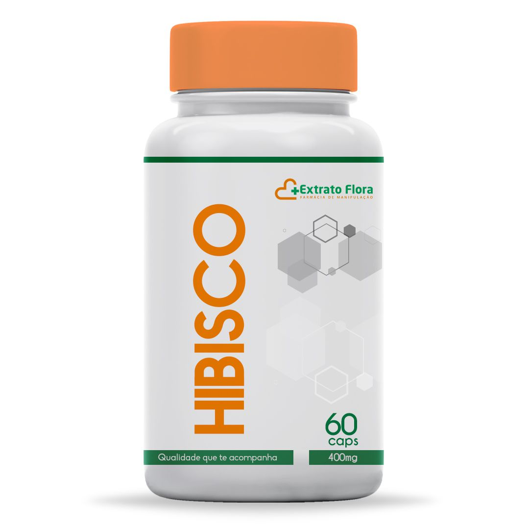 Hibisco (Hisbiscus) 400mg 60 Cápsulas Manipulado