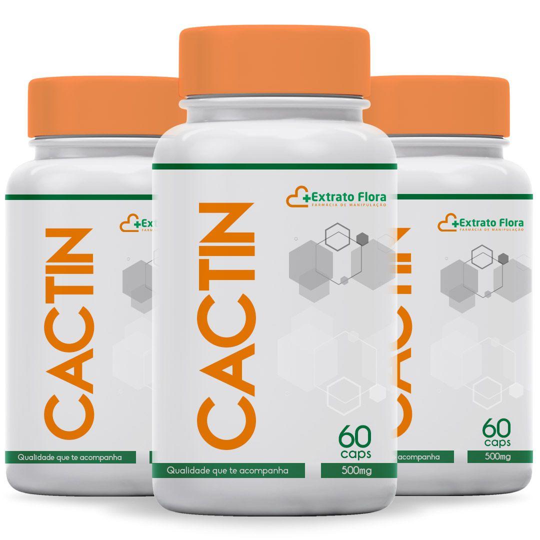Kit Cactin 500mg 60 Cápsulas (3 frascos com selo de autenticidade)