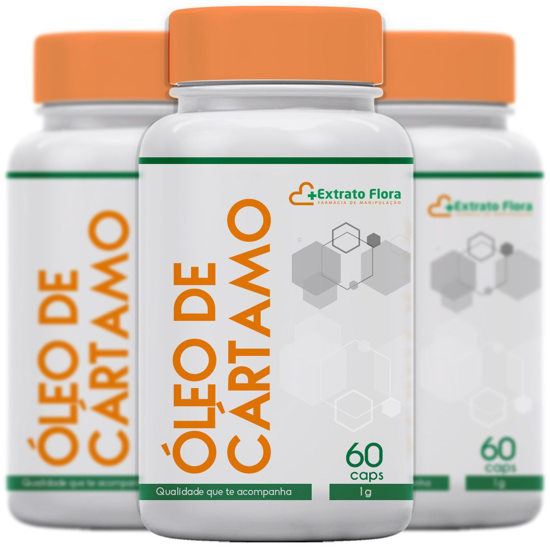 Kit Óleo de Cártamo 3 frascos 60 Cápsulas cada