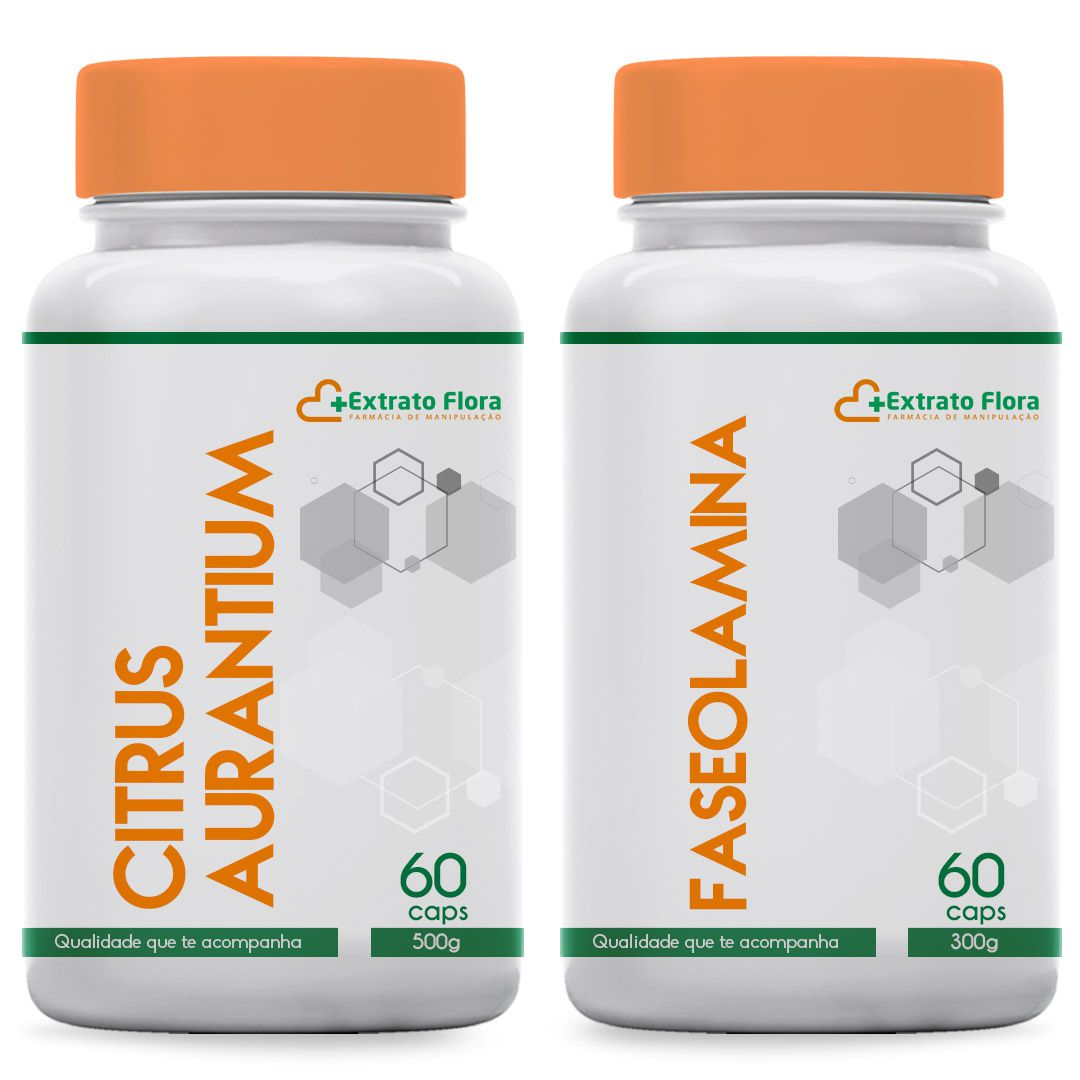 Kit Perda de peso (Citrus Aurantium 500mg / Faseolamina 300mg)  60 Cápsulas cada