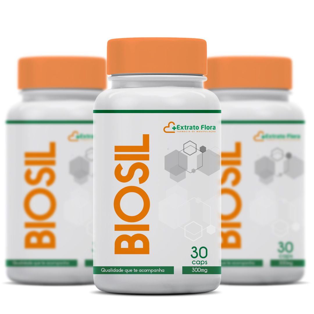 Kit  3 meses Biosil 300mg 30 Cápsulas